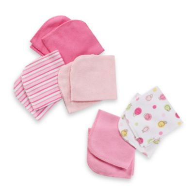 Just Born® 10-Pack Washcloth Set in Pink