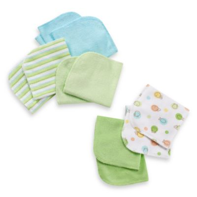 Just Born® 10-Pack Washcloth Set in Green