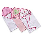 Just Born® 3-Pack Hooded Towels in Pink Octopus