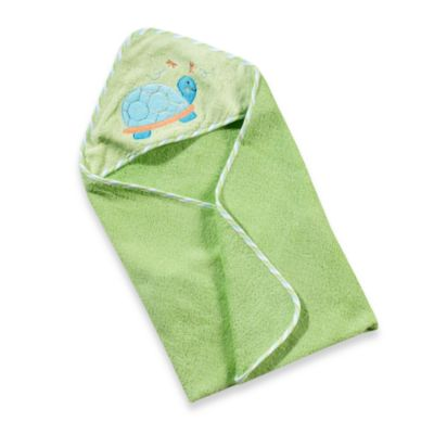 Just Born® Hooded Towel in Blue-Green Turtle