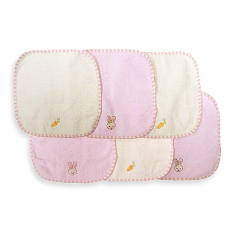 NoJo® 6-Pack Embroidered Woven Terry Washcloth Set