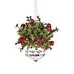 Kissing Krystal Christmas Mistletoe Ornament