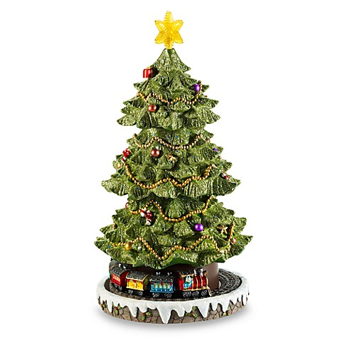 Rotating Resin Christmas Tree