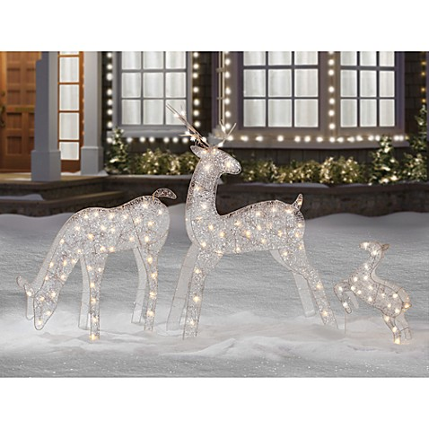 Lighted Reindeer Family (Set of 3)