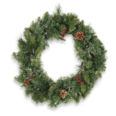 "26"" Pre-Lit Holiday Wreath"