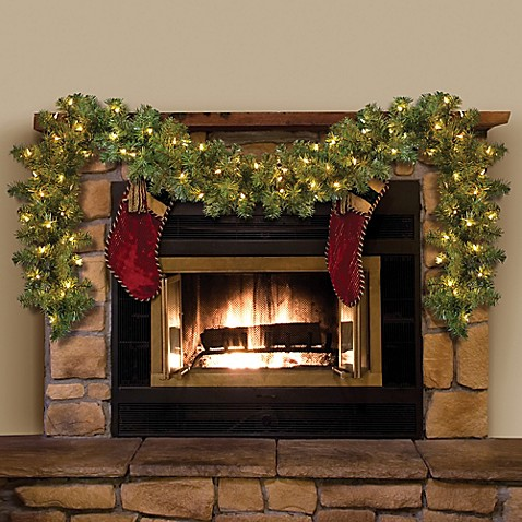 6-Foot L Pre-Lit Holiday Garland (Set of 2)