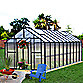 Riverstone Monticello 8-Foot x 16-Foot Residential Greenhouse in Black