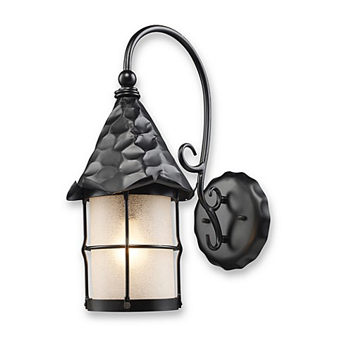 Rustica Outdoor Sconce Light in Matte Black