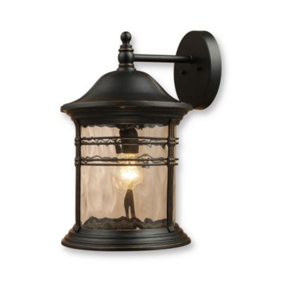 ELK Lighting Madison 1-Light 18-Inch Outdoor Sconce in Matte Black