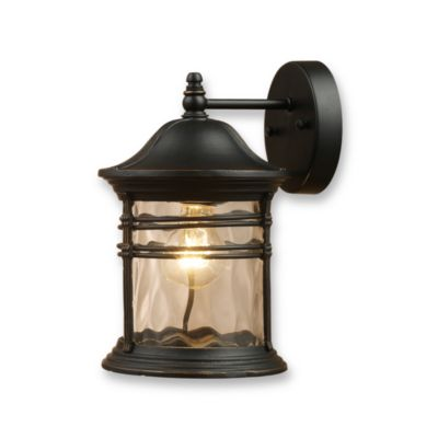 Elk Lighting Madison 1-Light 14-Inch Outdoor Sconce in Matte Black