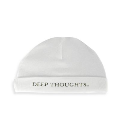 Silly Souls® Deep Thoughts in Beanie in Newborn-6 months in White