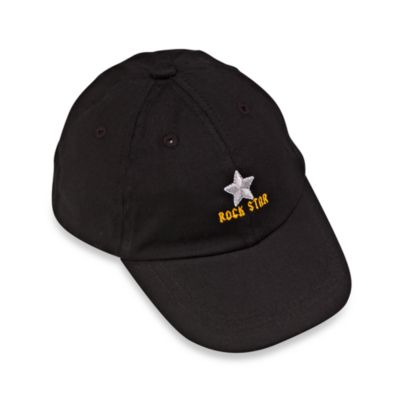 Silly Souls® Rock Star in Ball Cap in Newborn-12 months in Black