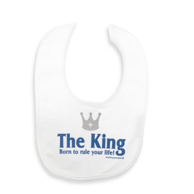 Silly Souls® The King: Born to Rule Your Life in Bib in White