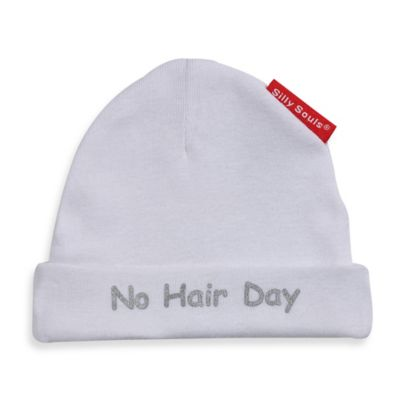 Silly Souls® No Hair Day® in Beanie in Newborn-6 months in White