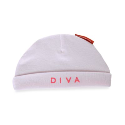 Silly Souls® Diva in Beanie in Newborn-6 months in White