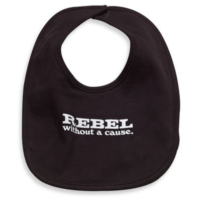 Silly Souls® Rebel Bib in Black