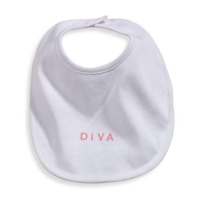 Silly Souls® Diva in Bib in White