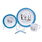 Silly Souls® New Yorker® Food Issues 5-Piece Dish Set in White & Blue