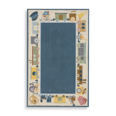 Momeni 'Lil Mo Classic 5-Foot Round Area Rug in Blue