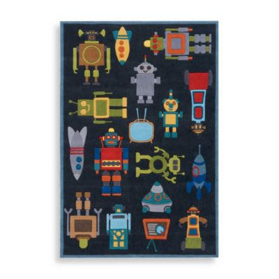Momeni 'Lil Mo Whimsy LMJ-1 Area Rug in Steel Blue