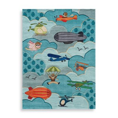 Momeni 'Lil Mo Whimsy 2-Foot x 3-Foot Area Rug in Sky