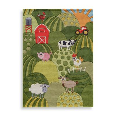 Momeni 'Lil Mo Whimsy LMJ-11 Grass Area Rug - 2-Foot x 3-Foot