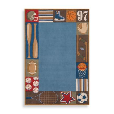 Momeni 'Lil Mo Whimsy 5-Foot x 7-Foot Area Rug in Denim