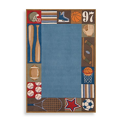 Momeni 'Lil Mo Whimsy 8-Foot x 10-Foot Area Rug in Denim