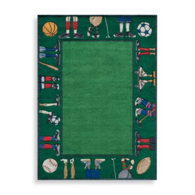 Momeni 'Lil Mo Whimsy 5-Foot x 7-Foot Area Rug in Grass