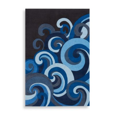 Momeni 'Lil Mo Hipster 4-Foot x 6-Foot Area Rug in Surf