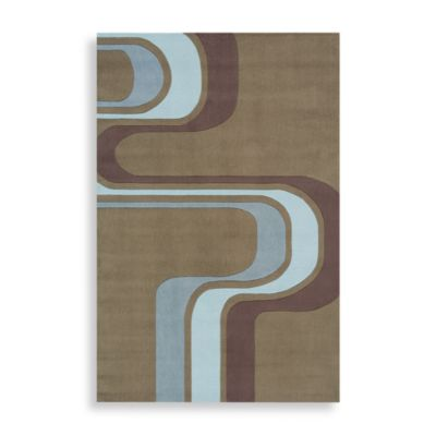 Momeni 'Lil Mo Hipster 4-Foot x 6-Foot Area Rug in Army Green