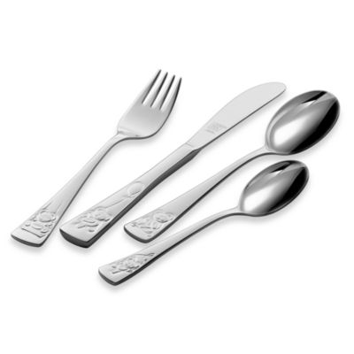 Zwilling J.A. Henckels Teddy Children's 4-Piece Flatware Place Setting
