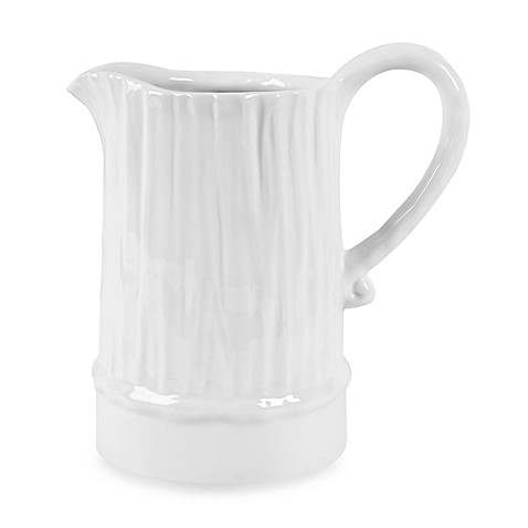 Fitz and Floyd® Everyday White® Bark Textured 64-Ounce Pitcher