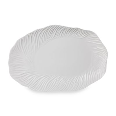 Nambe Inferno Winter Snow 16 3/4-Inch Oval Platter