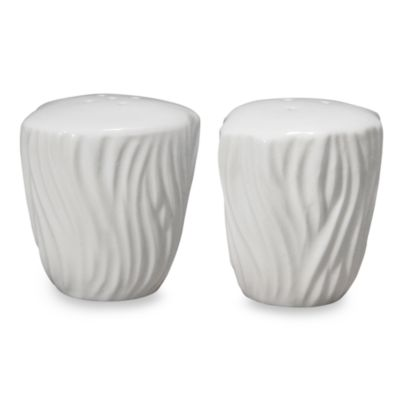 Nambe Inferno Winter Snow Salt & Pepper Shaker Set