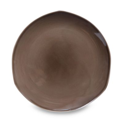 Nambe Tri-Corner Espresso 12-Inch Dinner Plate (Set of 4)