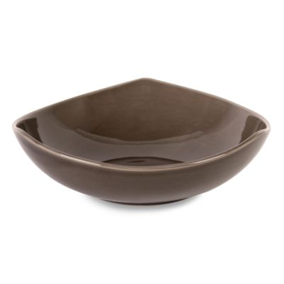 Nambe Tri-Corner Espresso 9 3/4-Inch Vegetable Bowl