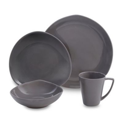 Nambe Tri-Corner Smoke 4-Piece Place Setting