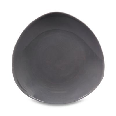 Nambe Tri-Corner Smoke 10-Inch Dessert Plate (Set of 4)