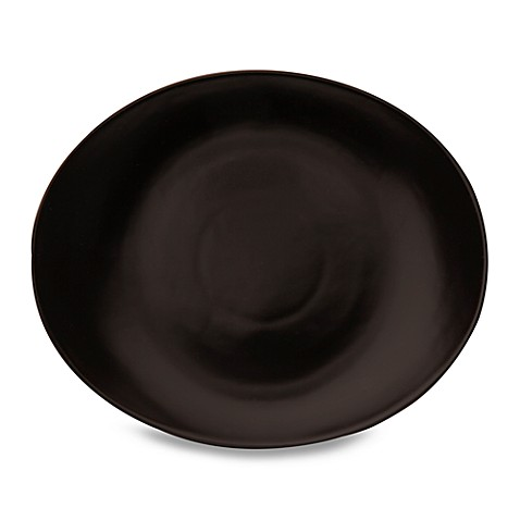 Nambe Butterfly II Onyx 11 1/2-Inch Oval Dinner Plate (Set of 4)