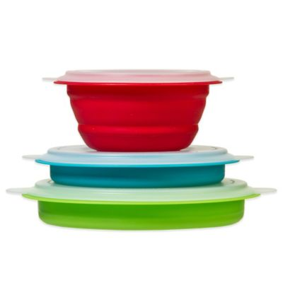 Progressive® Collapsible Storage Bowls with Lids (Set of 3)