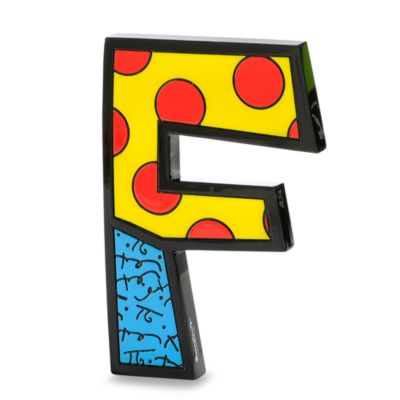 "Britto™ by Giftcraft Wall/Table Letter ""F"""