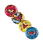 Britto™ by Giftcraft Heart Design Glass Magnets