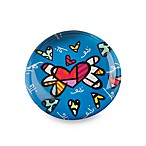Britto™ by Giftcraft Heart Design Glass Magnet in Blue