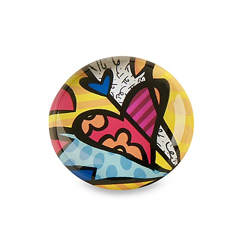 Britto™ by Giftcraft Heart Design Glass Magnet in Multi-Color