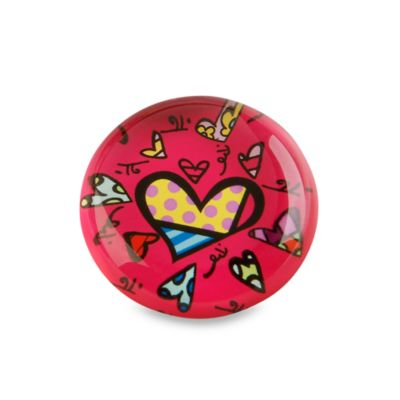 Britto™ by Giftcraft Heart Design Glass Magnet in Red