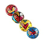 Britto™ by Giftcraft Heart Design Glass Paper Weights