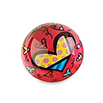 Britto™ by Giftcraft Heart Design Glass Paper Weight in Red