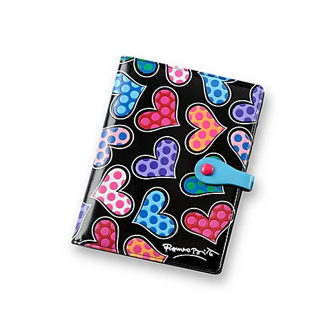 Britto™ by Giftcraft Heart Design Passport Cover in Black