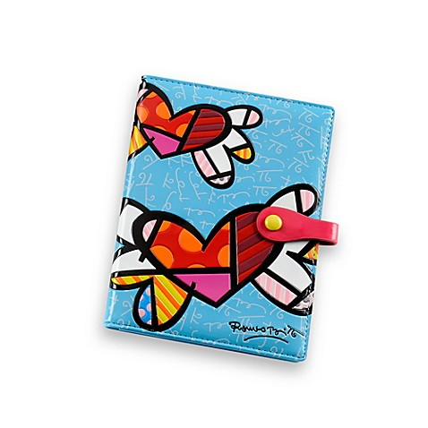 Britto™ by Giftcraft Heart Design Passport Cover in Blue